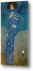 Портрет Эмилии Флёге (1902) (181 х 84) (Вена, Музей истории иску