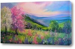 Картина Весна в Карпатах
