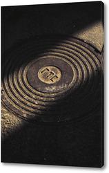 Картина Текстурная крышка в асфальте