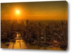 Картина Вечерний Шанхай