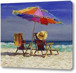 Картина На пляже