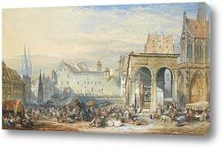 Картина Нюрнберг городская площадь
