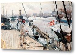 Картина Из порта Копенгаген