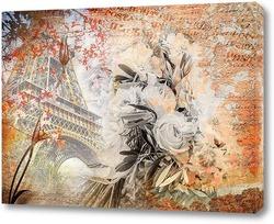 Картина Париж винтаж