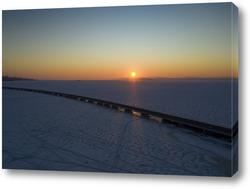 Картина Вид с воздуха на мост Седанка-Де Фриз. Владивосток