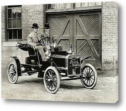 Картина Генри Форд тестирует Ford-N.1905г.