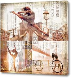 Картина Балерины на улицах Нью-Йорка