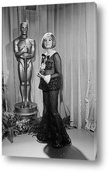Картина Барбара Стрейзанд с Оскаром