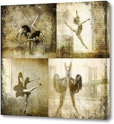 Картина Балерины. Сепия