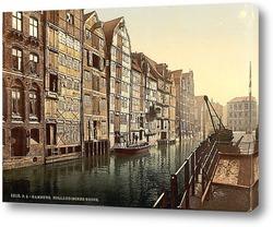 Картина Канал,Гамбург, Германия. 1890-1900 гг