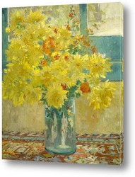 Картина Жёлтые хризантемы