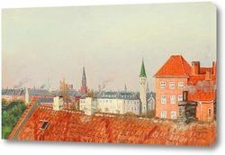 Картина Вид на крыши Копенгагена из мастерской художника