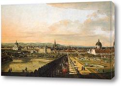 Картина Вена, вид из дворца Бельведер