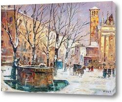 Картина Милан в зимний период