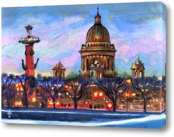 Картина Огни Петербурга
