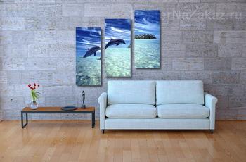 Модульная картина Dolphin062