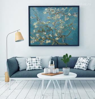 Модульная картина Цветущая ветка миндаля