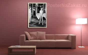 Модульная картина Мерелин Монро в развевающейся юбке.