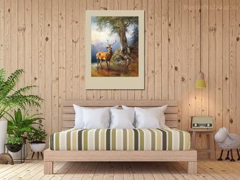 Модульная картина Олень у озера Гозау
