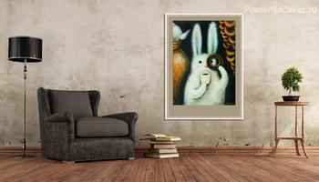 Модульная картина Заяц с баранкой