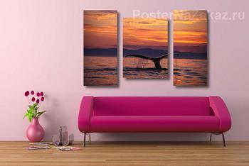 Модульная картина Whale029