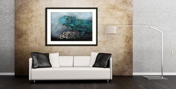 Модульная картина Голубая Игуана