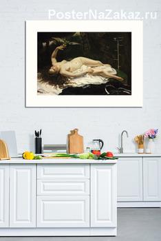 Модульная картина Женщина с попугаем