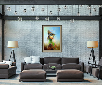 Модульная картина Пастушок со стрекозой на шляпе