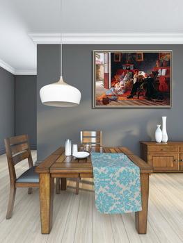 Модульная картина Сцена Семьи Адольфо Пинто