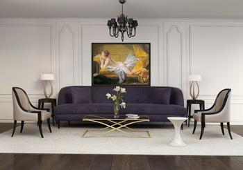 Модульная картина Светловласая одалиска (Портрет м-зель Луизы О Мерфи)