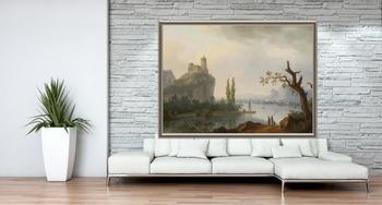 Модульная картина Крепость на горе