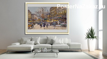 Модульная картина Париж бульвар