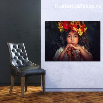 Модульная картина Девушка - Осень