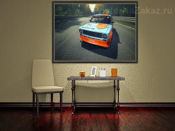 Модульная картина Lada Racing