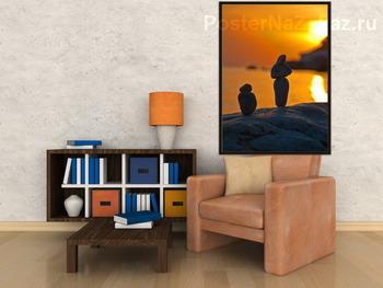 Модульная картина Фигурки на закате