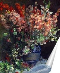 Постер Гладиолусы в вазе