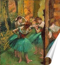 Постер Танцовщицы в розовом и зеленом