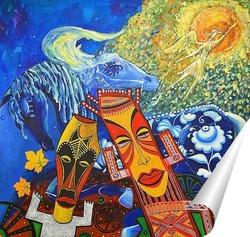 Постер Картина в этническом стиле