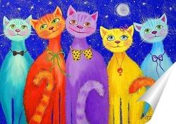 Постер Улыбчивые коты