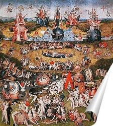 Постер Сад земных наслаждений-фрагмент триптиха