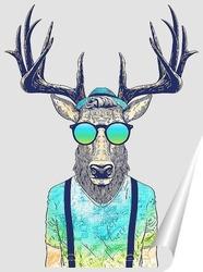 Постер Стиляга олень