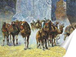 Постер Стадо верблюдов