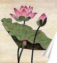 Постер Цветок лотоса.