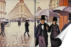 Постер Парижская улица.1877