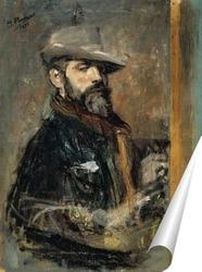Постер Автопортрет в сомбреро, 1895