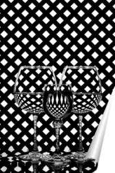 Постер Чёрно-белый этюд со стеклом