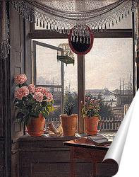 Постер Вид из комнаты художника, ок. 1825