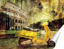 Постер Скутер и Колизей