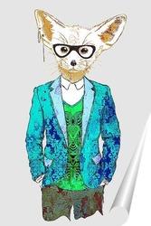 Постер Стильный лис