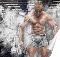 Постер Чемпион с кубком